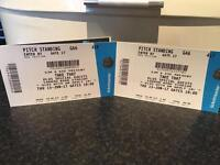 TAKE THAT STANDING TICKETS CARROW ROAD NORWICH