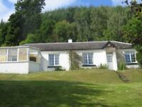 Rural 3 bedroom detached cottage in the Highlands with views over Loch Ness
