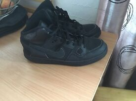 Black size 5.5 high top Air Force ones