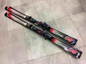 #F019526 Skis Alpin ROSSIGNOLc Strato 80TI 162 cm ''Oversized''  + fix Ross.140