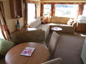 Pet friendly two bedroom static at Cayton Bay, North Yorkshire. Available for short stays in June