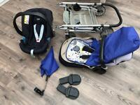 Good condition Pushchair + car seat + adapters (BARGAIN)