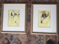Pair of Degas Prints Framed under Glass - The Jockey 21.5in/0.54in x 18in/0.46M