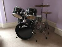 Five peice junior drum kit, Tama Stagestar.