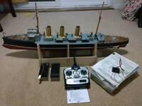 Remote control model ship boat HMS Skirmisher full working order