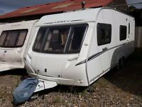 2008 Abbey Vogue 600 6 Berth Twin Axle End Washroom Caravan with Motor Mover and Canopy