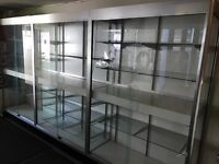 One Large (or 3 small) lighted display cabinets
