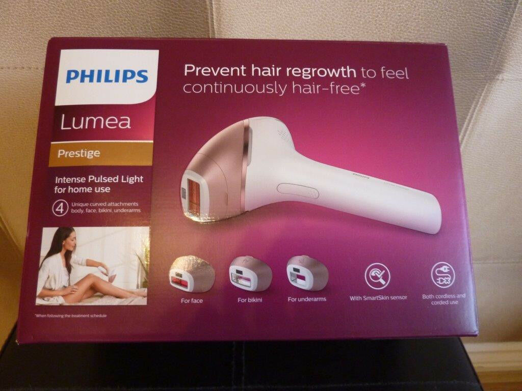 Philips Lumea Prestige IPL Hair Removal Device BRI956 with 4 attachments |  in Norwich, Norfolk | Gumtree