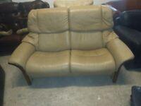 Ekornes Stressless Recliner sofa settee in VGC Deliv Poss