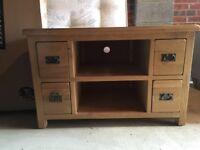 Newbury Solid Oak TV Cabinet