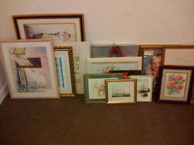 Large Quantity of Art Work. Oils, Water Colours and Prints.