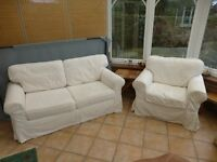 IKEA EKTORP second hand 2-seater sofa and chair