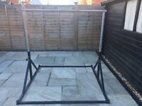 Galvanised Gymnastics Adjustable Tall Bar - suitable to keep outdoors