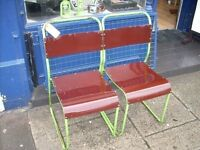 Lovely set of Vintage Retro School Chairs with Original Paint