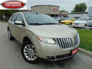 2011 Lincoln MKX AWD-LEATHER-SUNROOF-NAVI-CAMERA-DVD