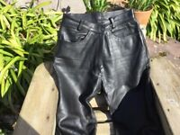 Ladies Leather Motorbike Trousers Jeans Style
