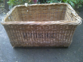 large vintage laundry basket