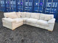 Bargain Genuine Italian Large Corner Sofa Excellent Condition Free Delivery In Norwich.