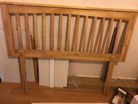 wooden headboard for standard double bed