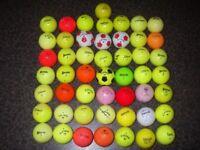 50 very colourful golf balls