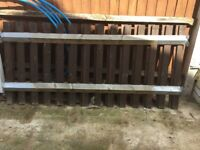 2 Garden Fence , Complete and assembled , used for short time ,, Treated & Painted