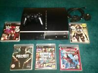 PlayStation 3 console, controller and games