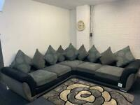 Absolutely gorgeous Grey & black DFS corner sofa delivery 🚚 sofa suite couch furniture
