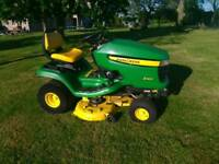 John deere x300 ride on lawnmower