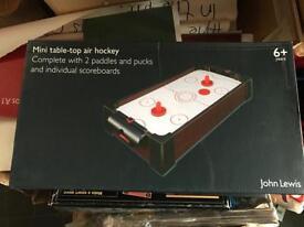 John Lewis mini table top air hockey