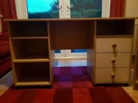 Desk,book shelf and corner shelf/TV unit