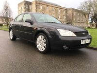 2001 Ford Mondeo 2.5 Ghia X, V6, service history, long MOT, leather, top of the range, 78000 miles