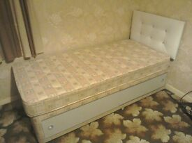 Single bed with headboard and storage