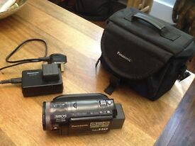 Panasonic HDC HS700 240GB HDD Camcorder w/Carry Case & Extra Battery.