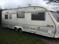 5 Berth 1996 Lunar Delta 620/5 Good Condition Twin Axle Porch Awning Cooker Microwave Fridge Freezer