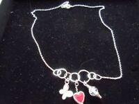 Ortak silver charms necklet - never worn, excellent condition, no box