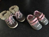 Infant girls size 5G Clark's shoe bundle