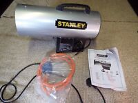 STANLEY 12.3KW LPG FAN HEATER ST-40-GFA-E THERMOSTAT CONTROL STEEL