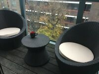 Patio set perfect for balcony