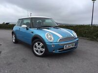 BEAUTIFUL ELECTRIC BLUE MINI WITH GREAT SPECIFICATION INCLUDING PANORAMIC ROOF AND AIR CONDITIONING.