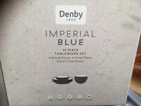 Denby imperial blue 12 piece box new