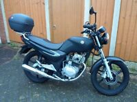 SYM XS 125 Motorcycle. Engine size 125 Black 5 speed gearbox 2014 3461 Miles Excellent condition.