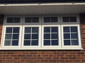 5 White Georgian Style Double Glazing Windows - Anglian Windows