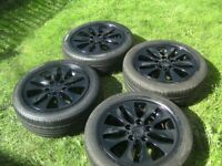 SET 4,STUNNING,GENUINE BMW,5 STUD,5 X 120 PCD ALLOYS,CENTRES,AND 195/55/16 TYRES