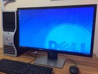 "POWERFUL DELL WORKSTATION 16GB Ram, Ati V8700 3D Graphics + 28"" 4K Dell Monitor"