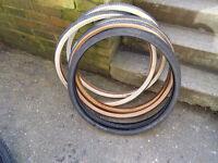 bundle of 3 sets of vintage / retro 26 x 1 3/8 tyres