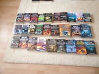 Great collection of 28 Clive Cussler novels £15 plus other action adventure collections £5 each