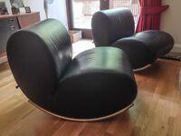 Pair of modern rocking chairs
