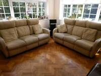2 x 3 seater couch, setee, suite, recliner