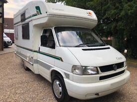 Compass Calypso Motorhome 2 Berth - 2000 (X)reg VW T4 Transporter 2.5 TDi - Part Exchange Welcome