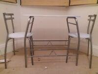 argos table with 2 chairs